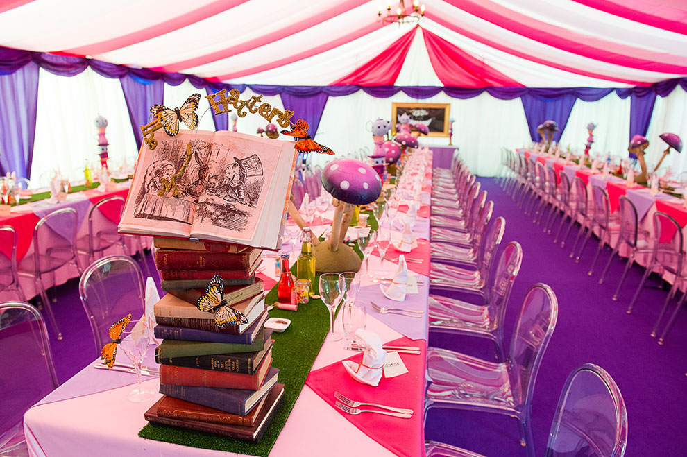 Alice in wonderland transform venue for Art decoration international pvt ltd