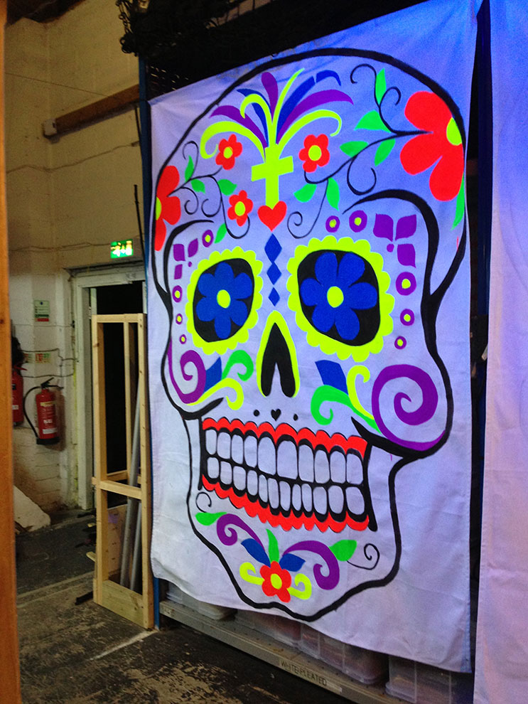 Day of the dead decorations transform venue for Art decoration international pvt ltd